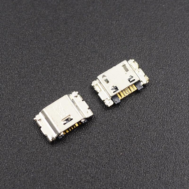 10 шт., разъем для Micro USB для зарядки, 7 контактов, для Samsung J5 SM-J500 J1, J100, J500, J5008, J500F, J7, J700, J700F, J7008