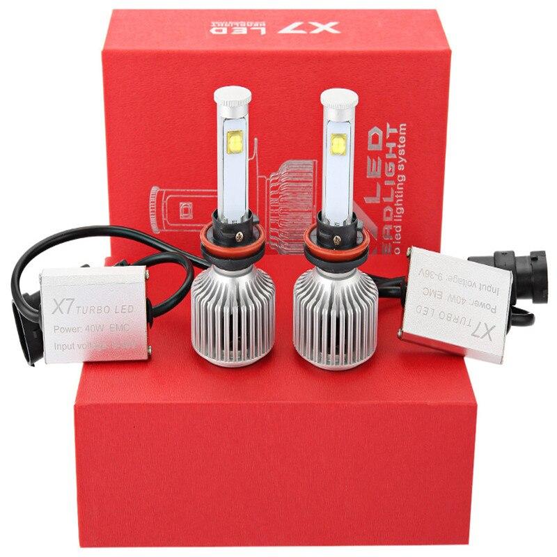ФОТО New X7 All-in-One Conversion Kit Auto Car Headlights Led Auto Front Fog Light Bulb White 6000K Plug Led Automotive Headlamp
