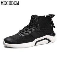 Для мужчин обувь новые модные черные высокие на шнуровке Повседневная обувь Для мужчин ботильоны Chaussure Homme Размер 39-44 t39m