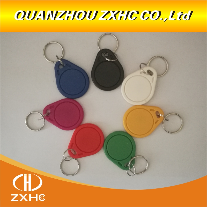 (10PCS) 13.56 Mhz RFID M1 S50 CUID Changeable Card Tag Keychain Key Keyfob <font><b>ISO14443A</b></font> Block 0 Sector Writable image