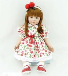 Pursue 22 56 cm red dot dress princess girl silicone reborn toddler dolls for girls birthday.jpg 250x250
