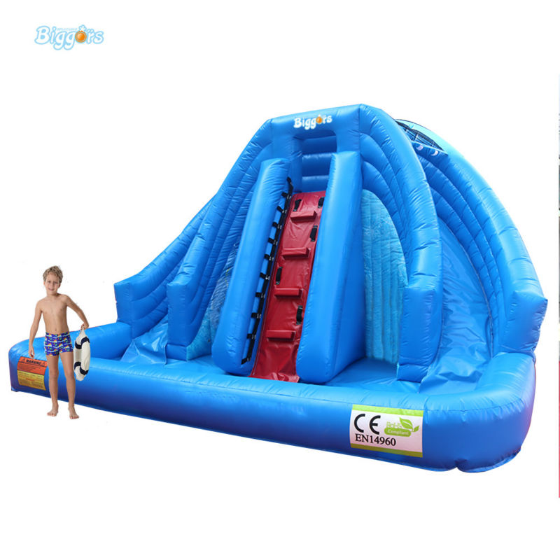 Inflatable Biggors Large Prevalent Inflatable Pool Slide Inflatable Bouncer Slide For Sale popular best quality large inflatable water slide with pool for kids