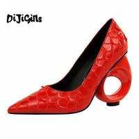 Spring Summer Women Single Shoes Fashion Snake Pattern Strange Style High Heels Women Pumps Sexy Party