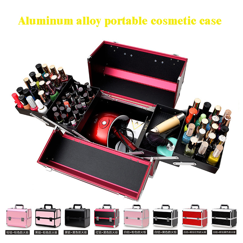 Tattoo Cosmetic Case Portable Portable Manicure Double Open Multiple Large Stowage Toolbox