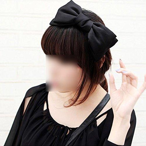 NEW 1X Sweet Cute Korea Style Big Bowknot Hair Band Bow Headband(black)