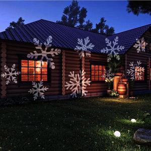 Image 4 - LED Christmas Projector Lights Outdoor Lamp Dynamic Snowflake Effect Garden Moving Xmas Stage Light Waterproof Landscape Light