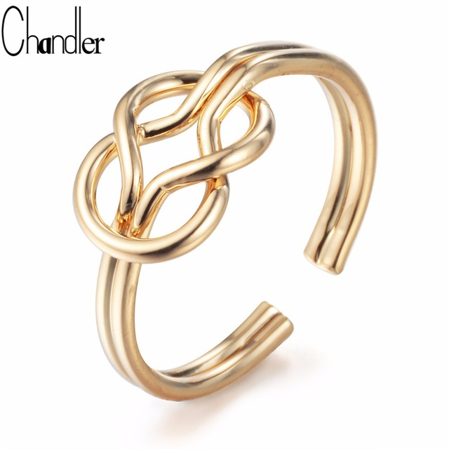 Chandler Sailor Knot Rings Love Knot Jewelry Double Wire Bow Open ...