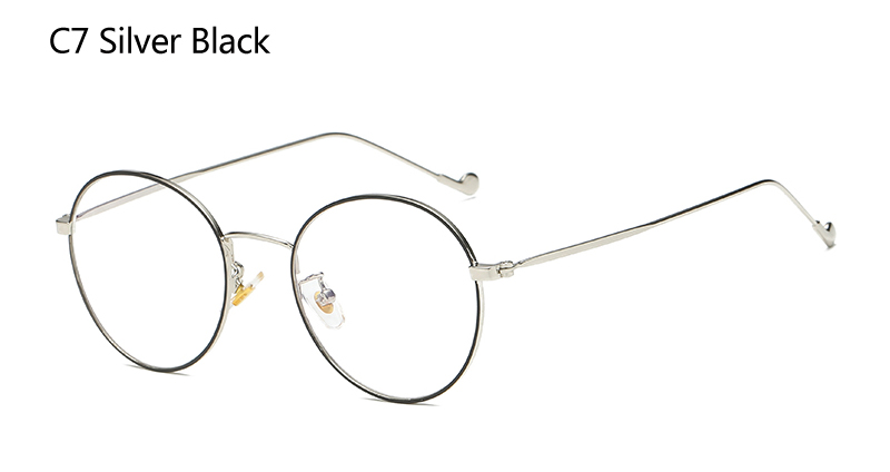 3fa54790c1456 2019 Ah Mee Small Oval Nerd Glasses Frames Clear Lens Unisex Gold ...
