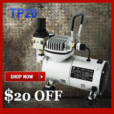 Mini Air Compressor TC20C Portable Airbrush Compressor for Painting Tatoo Water Filter