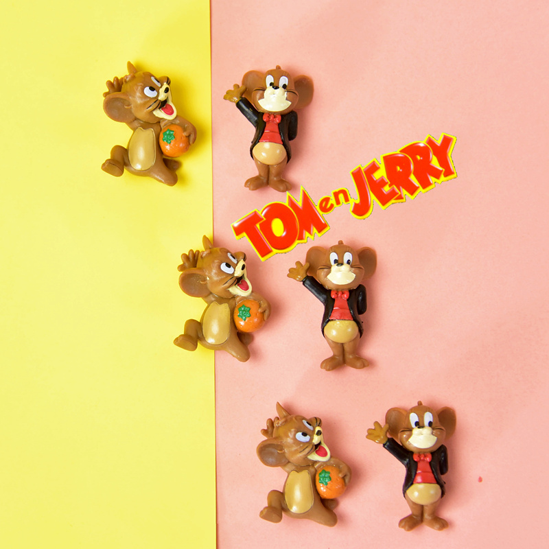 60pcs lot 3cm very small Tom and jerry collection toys cute mouse jerry subminiature figure action