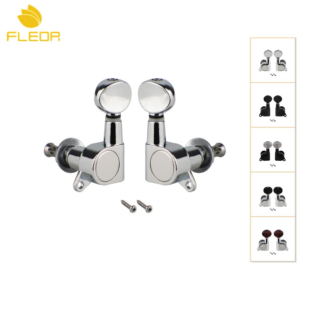 buy fleor 2pcs sealed electric guitar string tuning machine heads tuning pegs. Black Bedroom Furniture Sets. Home Design Ideas