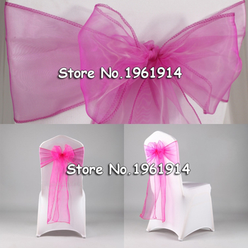 Wedding Decoration 150PCS New Organza Chair Sashes Bow Cover Banquet,wedding party chair decoration Free shipping