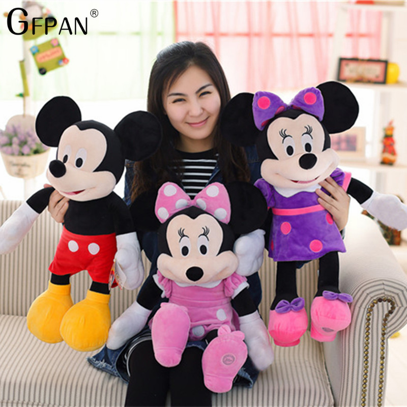 New Arrival 60CM High Quality Mickey & Minnie Mouse Plush Toys Stuffed Cute Cartoon Animal Dolls Party Gift For Kids Children стоимость