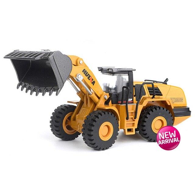 1:50 Simulasi Tinggi Alloy Diecast Teknik Mainan Model Kendaraan Excavator Forklift Bulldozer Loader Sekop Mainan Logam Kendaraan