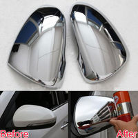 Car Exterior Side Rearview Mirror Glass Cover Full Trim Protector Fit For 2015 16 Tucson