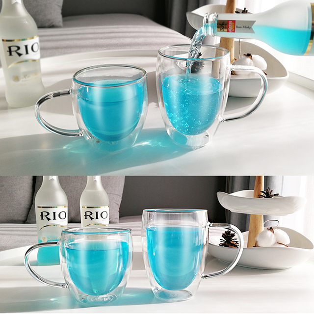 Double Layered Glass Coffee Cups