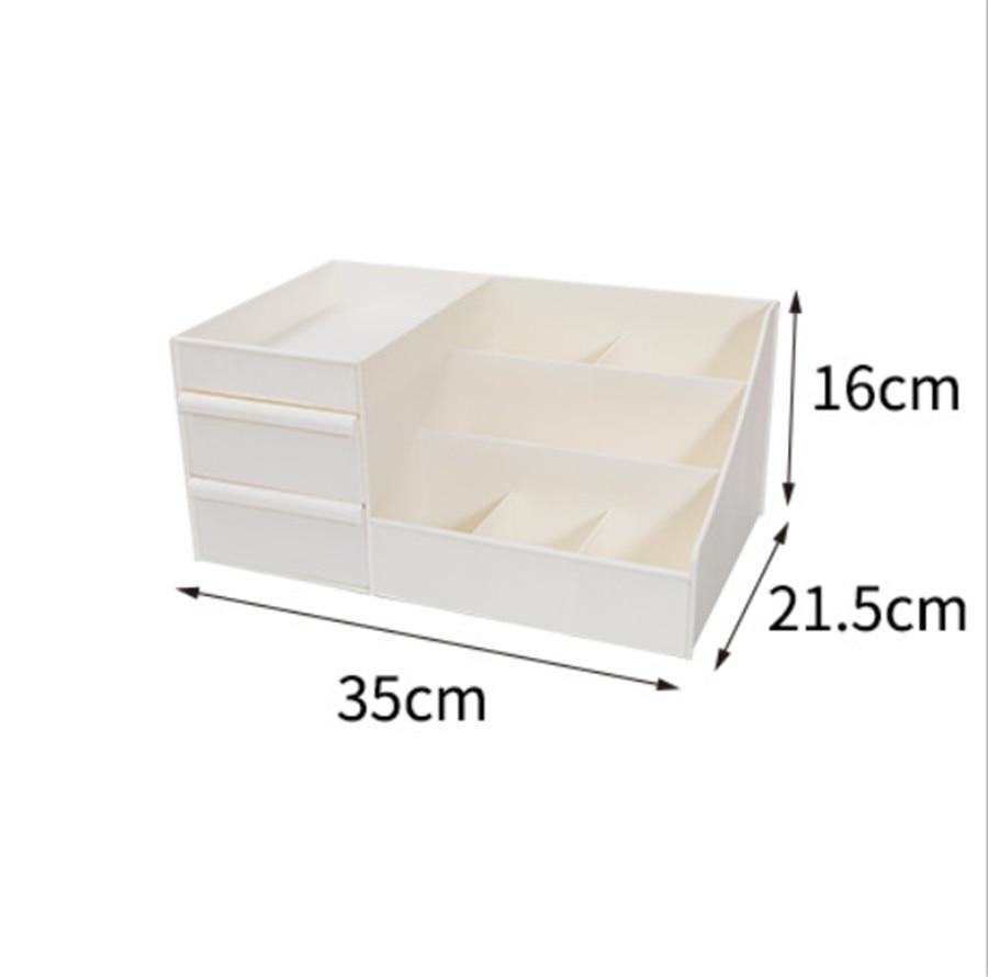 HTB1YJSxXojrK1RkHFNRq6ySvpXaz - Plastic Makeup Organizer Two-Layers Jewelry Box Acrylic makeup storage containers
