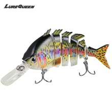 Купить с кэшбэком 10cm 14g Topwater Multi Jointed Swimbait Wobblers 6 Segments Fishing Lures Hard Bait Crankbait Fishing Tackle Pesca Isca