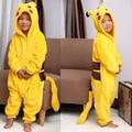 Lovely Kids Pikachu Unisex Children Kid Anime Pokemon Pajamas Cute Cosplay Costume Onesie