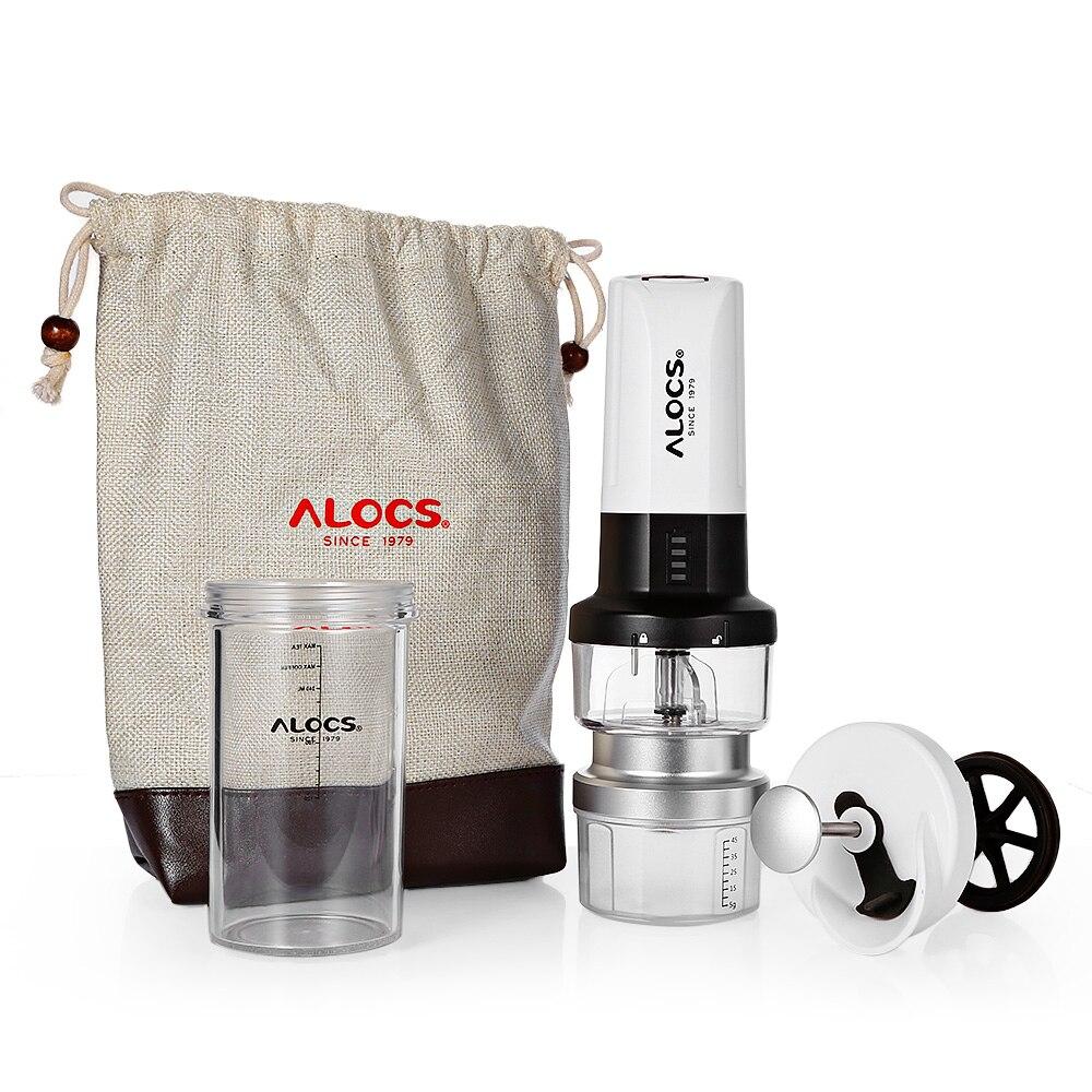 ALOCS KW-K25 Portable moulin à café électrique fabricant français presse bouilloire broyeur avec 6 LED Camping Camp vaisselle extérieure - 4