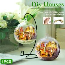 Miniature DIY House Wooden Hut Micro landscape Miniature Birthday Holiday Gift Home Garden Decoration