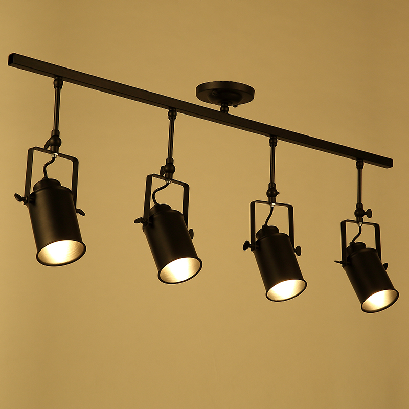 Modern industrial retro track light ceiling light bar clothing with the long rod LED lamp  living room spotlighting. led track light50wled exhibition hall cob track light to shoot the light clothing store to shoot the light window