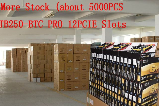 BIOSTAR Motherboard TB250-BTC PRO Support 12PCIE+12Pcs Riser Card For BTC Miner Machine Bitcoin Mining I7 5700K 1151 DDR4 Up 32G