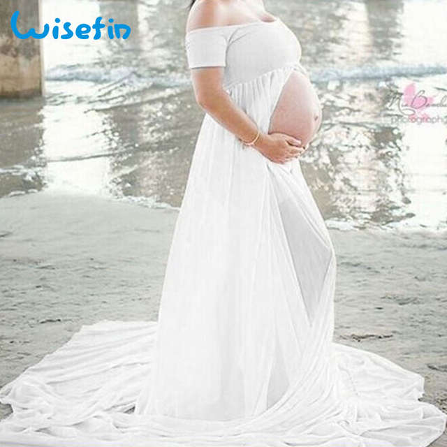 1e92b7bfebf8c US $13.59 40% OFF|Wisefin Women Maternity Dresses Summer Pregnancy Clothes  Maxi Dresses For Photo Shoot 2018 Maternity Clothes Dress Photography-in ...