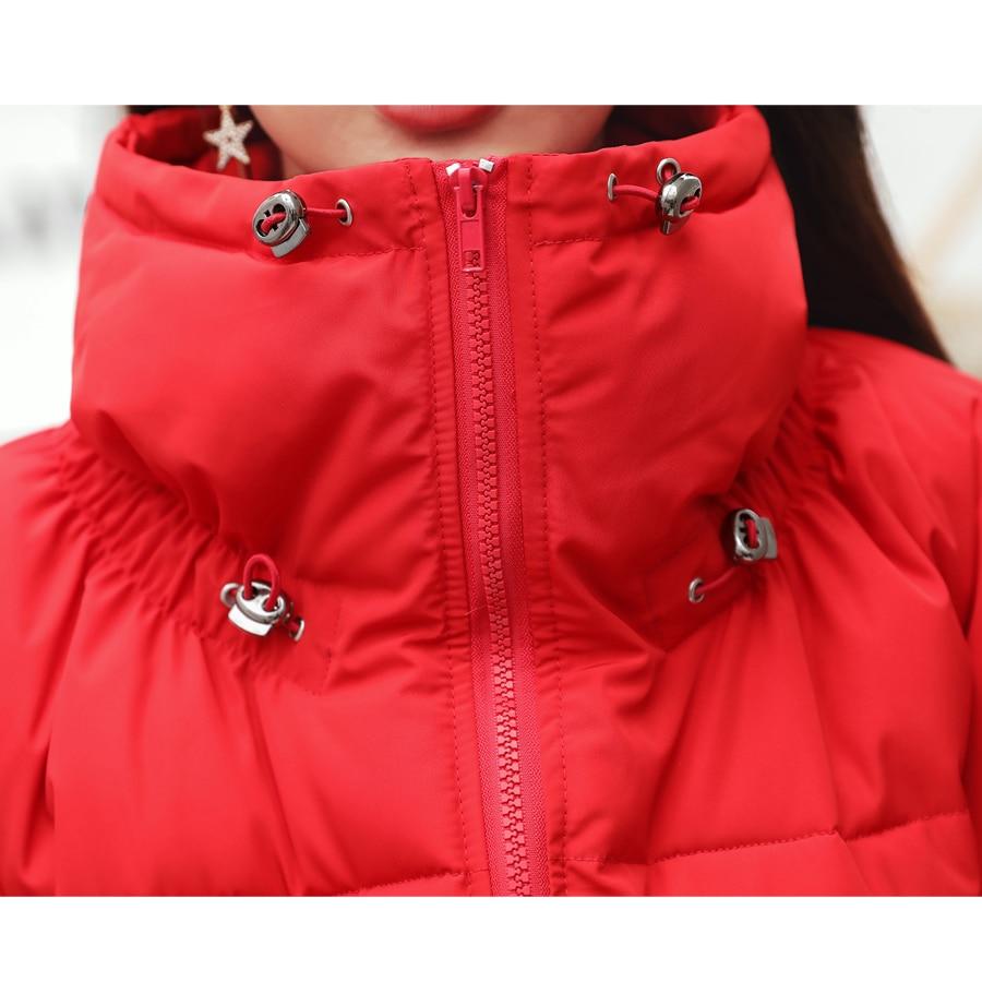 Veste red Mujer Stand Coton creamy Parka Black D'hiver 2018 Manteau Col Femmes white rembourré Jaqueta Chaud Feminina Thicked Femelle Chaqueta Manteaux wUvxqS