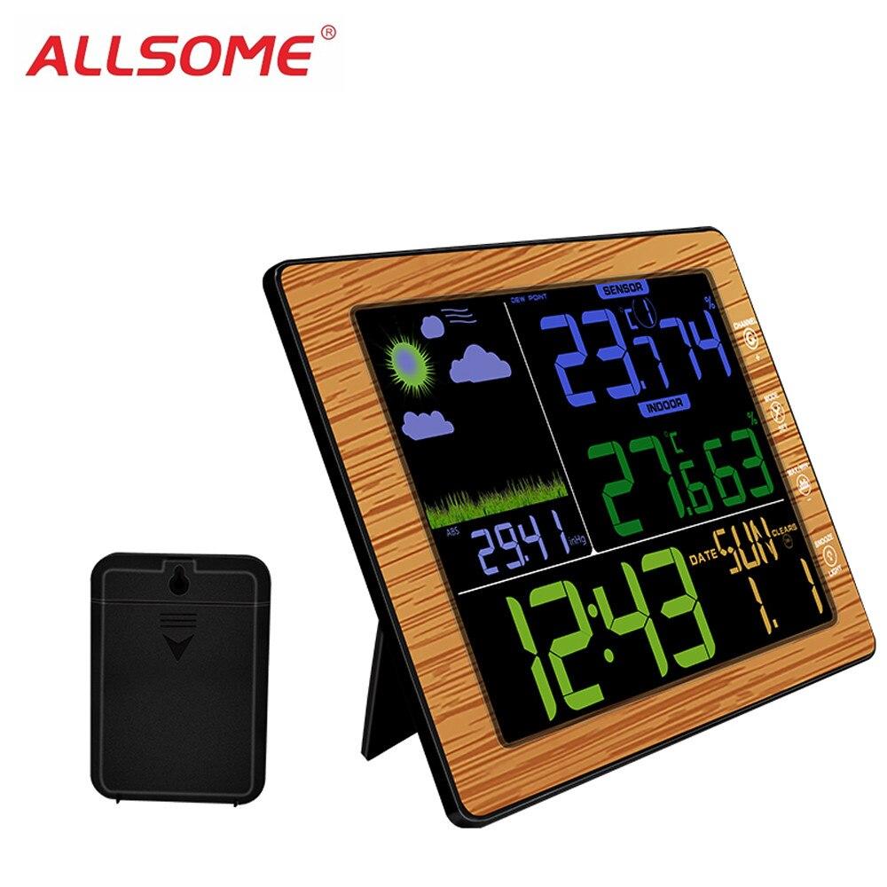 ALLSOME TS-8210 Numérique LCD Sans Fil Station Météo Professionnelle Température Testeur Thermomètre Humidité Moniteur HT2142-2143
