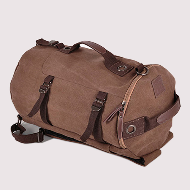 New Fashion Canvas Men Luggage Bag Carry on Luggage Travel Bag Men Duffel Bag  Weekend Overnight Bag Canvas Travel Backpack 0f52842c22