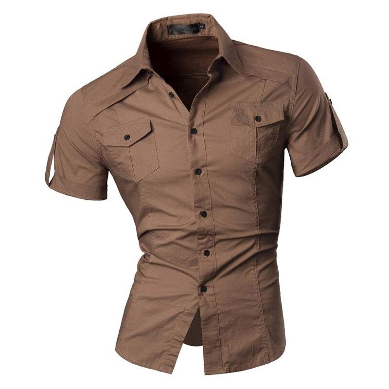 2018 sommer Funktionen Shirts Männer Casual Jeans Normallackhemd Neue kurzarm Casual Slim Fit Männlichen Shirts 8360