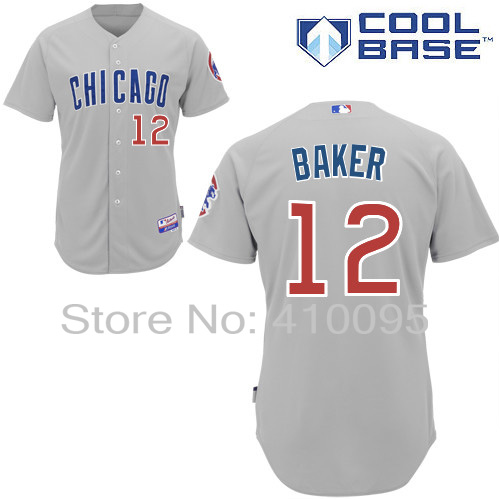 deb63769e Chicago Cubs 12 John Baker Personalized Home Road Alternate BP Cooperstown  Jersey Cheap Custom Baseball Jerseys