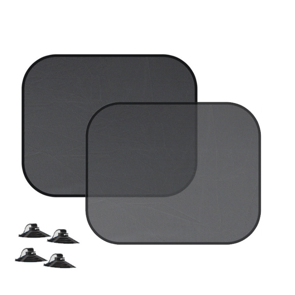 2PCS car sun visor sun visor side window car sunroof windshield car sunscreen heat shield sunscreen black 19Mar7(China)