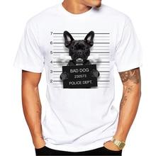 Creative Dog Police Dept Design Men T Shirt