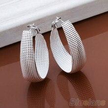 Bluelans 24 par/set Fashon de Las Mujeres del Estilo de Corea Caja Pendientes de Plata Plateado Pendiente de La Joyería