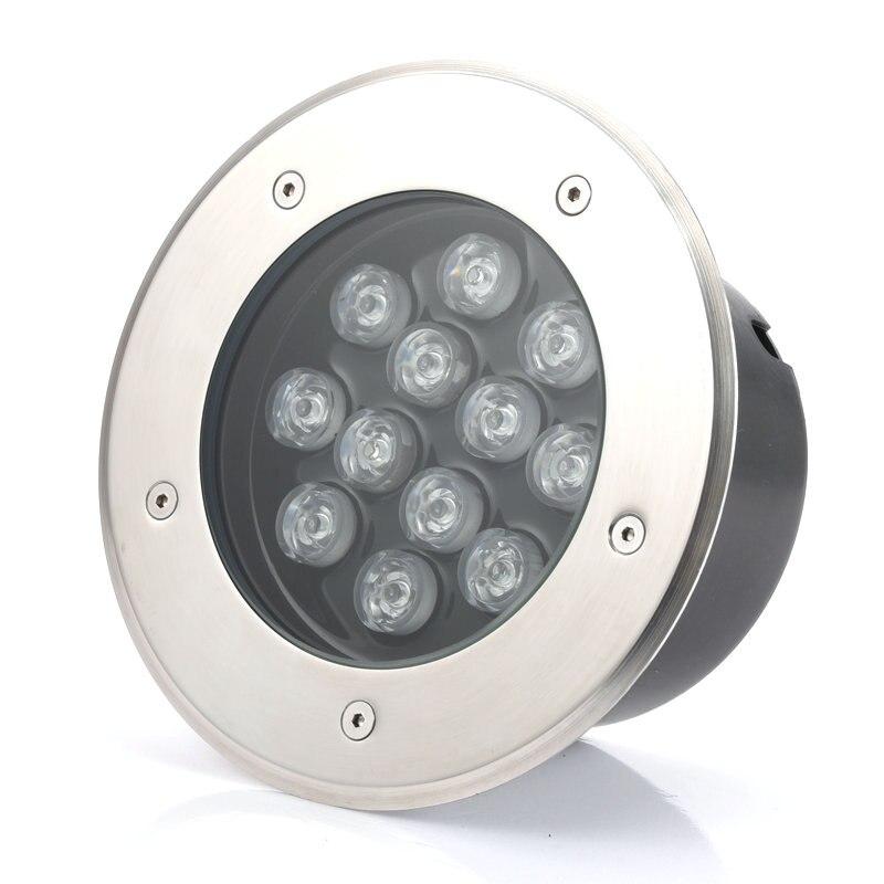 chão recesso lâmpada ao ar livre AC85V-265V ou 12V