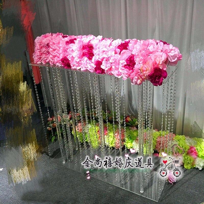 Акрил хрустальный цветок стоять свадебного стола центральным прозрачный высокий Цветок Столб