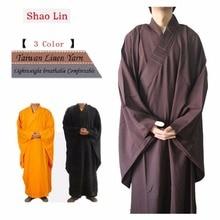 Шанхай история унисекс высокое качество Шаолинь храм дзен-буддистское одеяние монах медитация платье кунг-фу тренировочная форма костюм