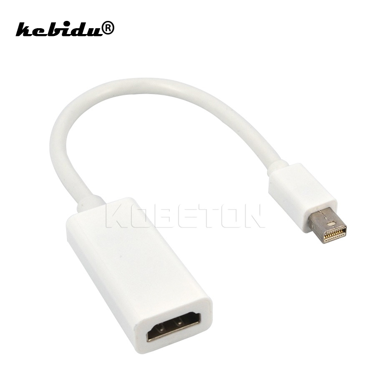 Kebidu alta qualidade thunderbolt mini displayport display porta dp para hdmi adaptador cabo para apple mac macbook pro ar venda inteira