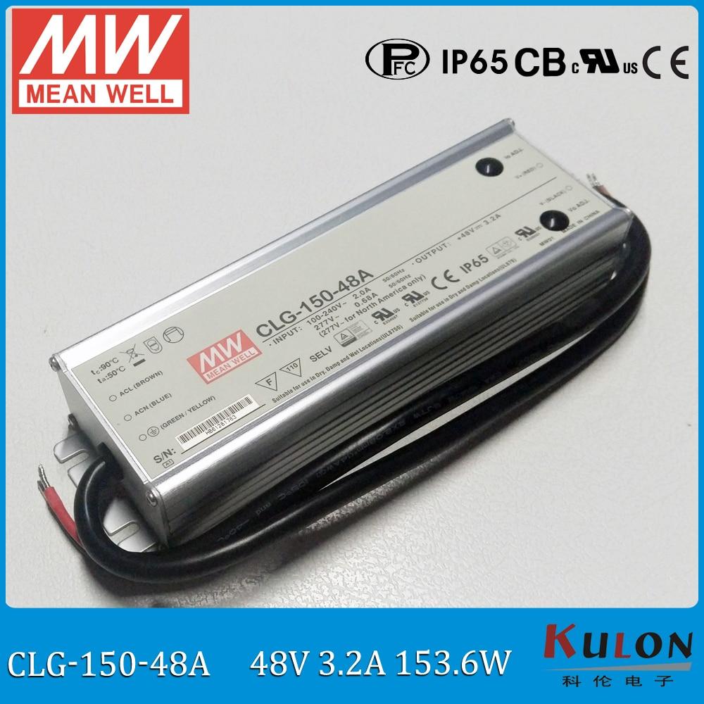 Original MEAN WELL 150W 48V waterproof LED driver CLG 150 48A 150W 48V 3 2A IP65
