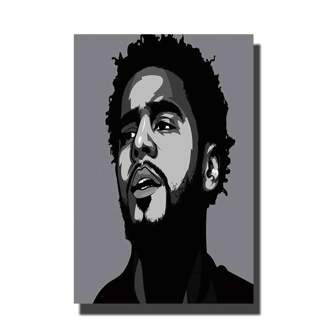 Art Poster J Cole American Hip Hop Artist Forest Hills Drive L-W Wall Canvas Modern painting Decor12x18 24x36 27x40 image