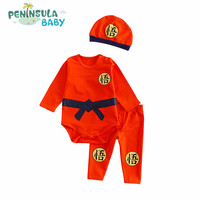 Fashion New Brand Newborn Boys Girls Bodysuit Cartoon Printed Autumn Baby Clothing Set Casual Infant Jumpsuits