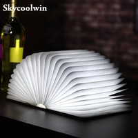 New Generation Skycoolwin Bedside Children LED Night Light 200LM Foldable Colorful USB Rechargeable LED Book Shape