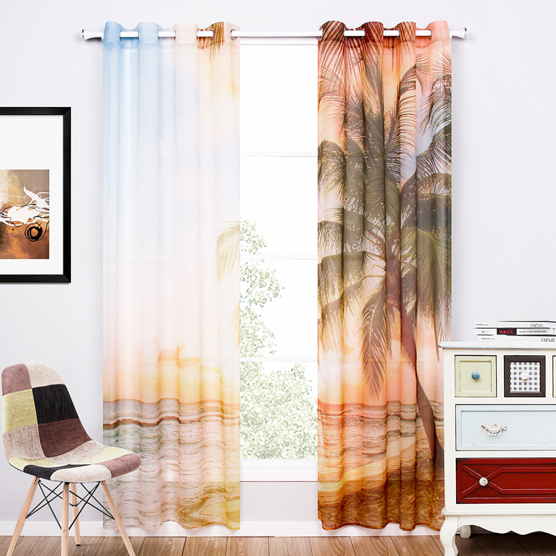 ̿̿̿(•̪ )Un Par de Cortinas Transparentes Para la Sala de estar de