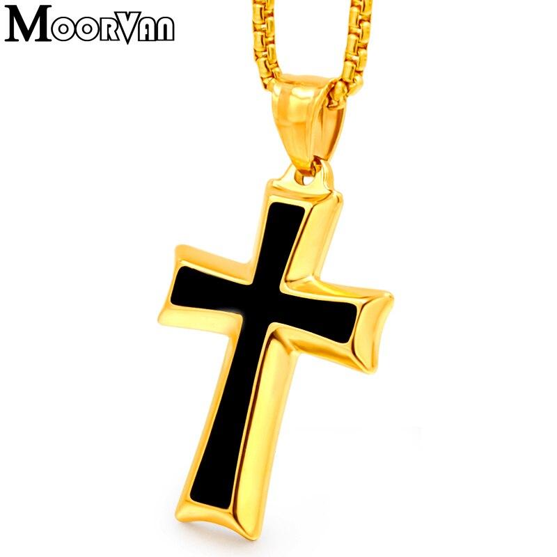 Moorvan Kreuz Anhänger Halskette, coole Edelstahl Männer - Modeschmuck - Foto 6
