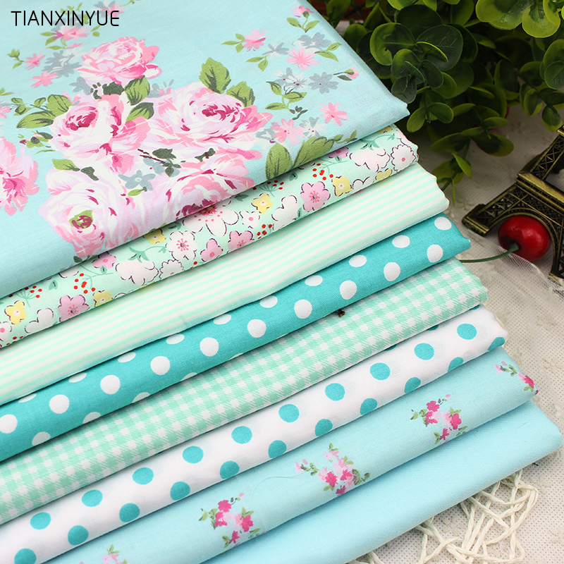 8 PCS/lot 40cmx50cm Victoria set flower Printed cotton fabric for quilting patchwork tecido tela clothing bedding tissus