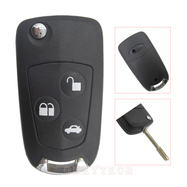 3 Ons Replacement Remote Flip Modified Car Blanks Switchblade Key Shell For Ford Focus Fiesta