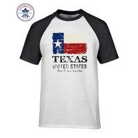 2017 Hippie De Base Tops Drôle coton USA Amérique Texas Drapeau T Chemise pour hommes