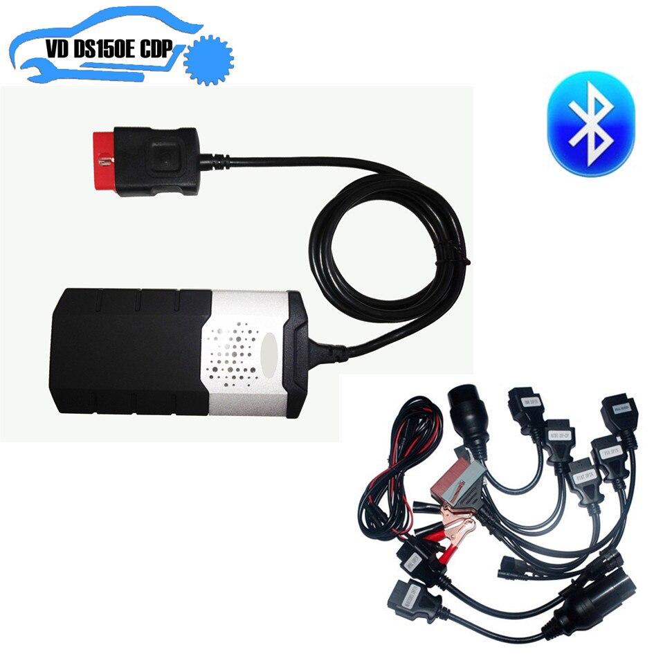 2018 новый VCI для del vd ds150e cdp tcs cdp pro obd2 диагностический инструмент с nec Реле + шт. 8 шт. автомобильные кабели для autocom с usb